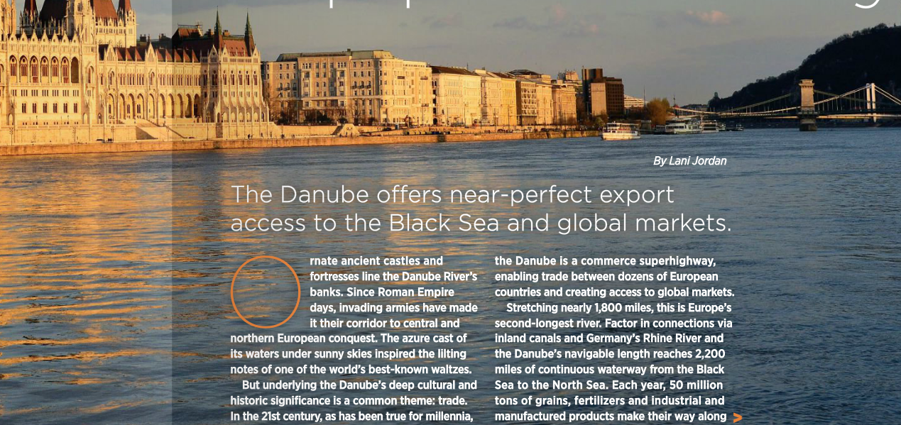 CHSInc's journey along the Danube H2O Highway-Connecting Farmers to Markets.