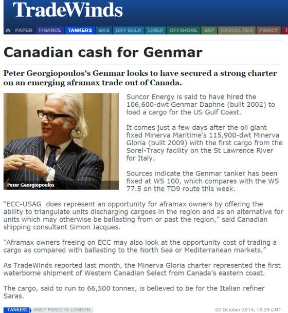Tradewinds Norway Canadian Cash for GENMAR