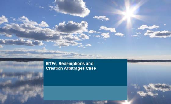ETF redemption arbitrage