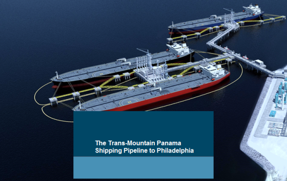 the Trans Mountain-Panama Pipeline to Philadelphia