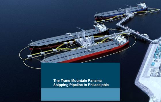 the Trans Mountain-Panama Pipeline to Philadelphia