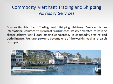 Commodity Trading